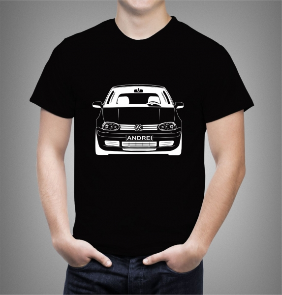 Tricou Personalizat Auto - VW Golf 4 model 2 1