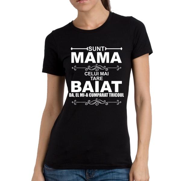 Tricou Personalizat - Mama celui mai tare baiat [1]