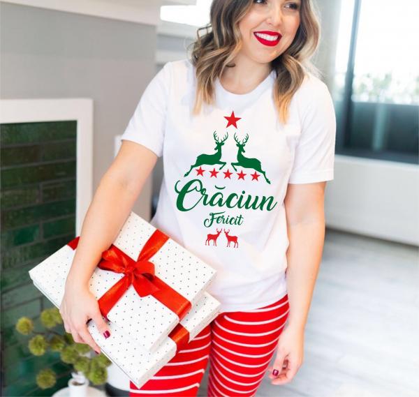 Tricou Personalizat Craciun - Craciun Fericit 0