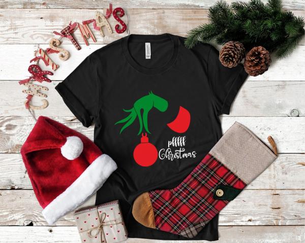 Tricou Personalizat Craciun - Pfff Christmas Grinch 0