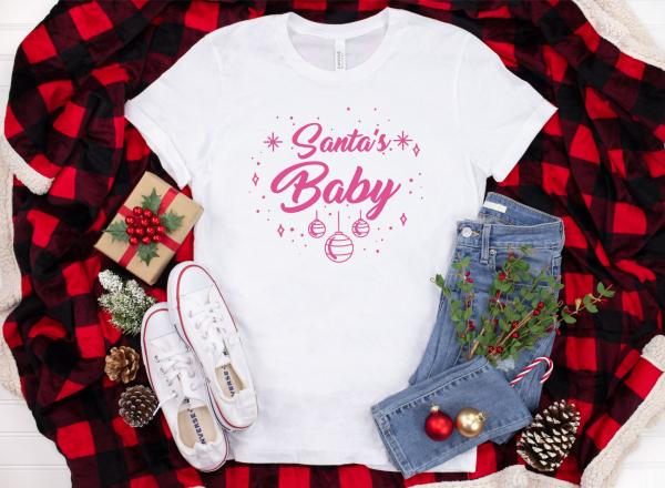 Tricou Personalizat Craciun - Santa's Baby 1
