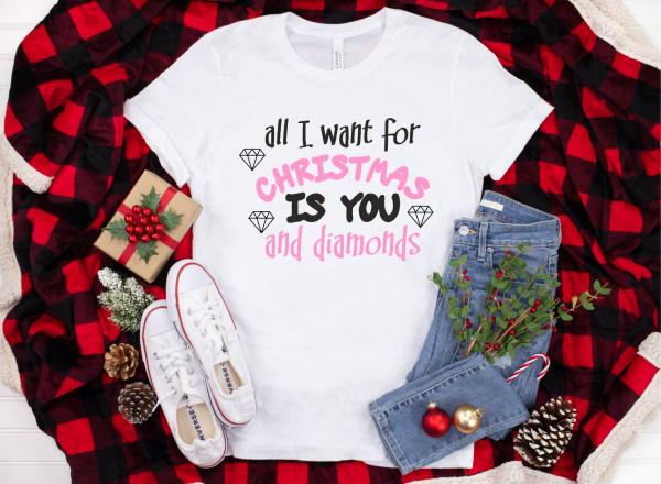 Tricou Personalizat Craciun - You And Diamonds 1