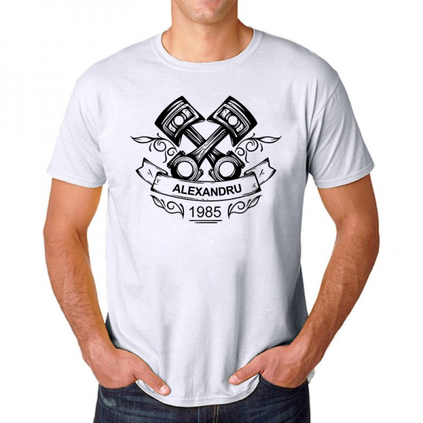 Tricou Personalizat Auto - Nume si Anul Nasterii 1