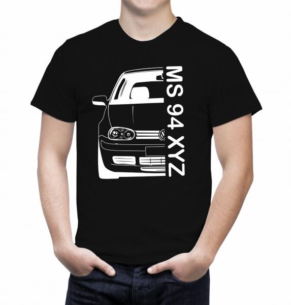 Tricou Personalizat cu nume sau numar auto - Volksvagen Golf IV 1