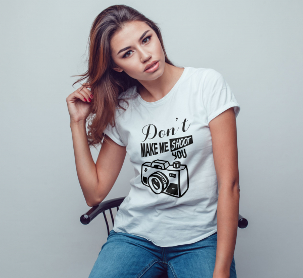 Tricou Personalizat - Don't Make Me Shoot You 0