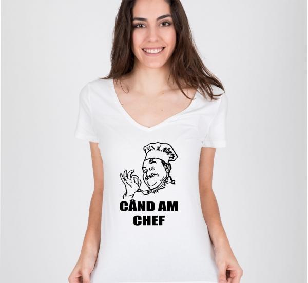 Tricou Personalizat - Chef cand am chef 0
