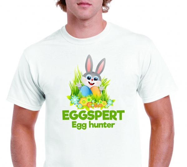 Tricou Personalizat de Paste - Eggspert Egg Hunter 1