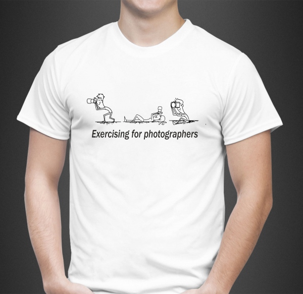 Tricou Personalizat - Exercising For Photographers 0