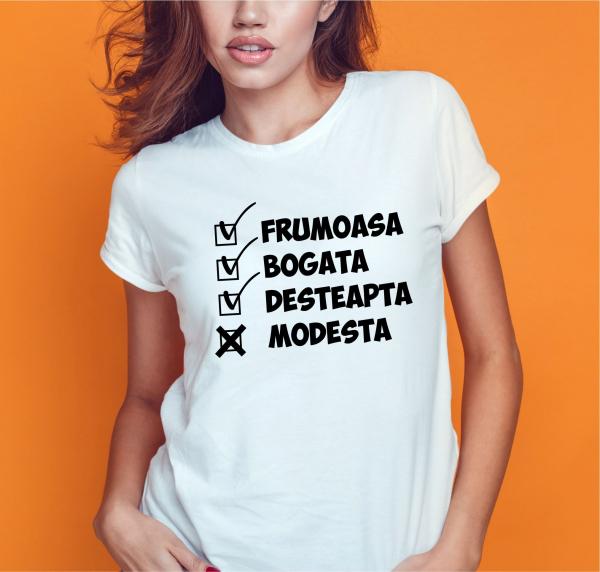 Tricou Personalizat Funny - Frumoasa si Desteapta 1