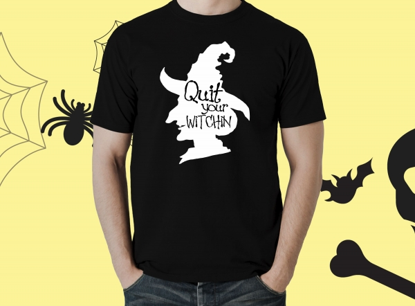 Tricou Personalizat Halloween - Quit Your Witchin 0