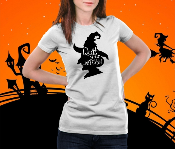 Tricou Personalizat Halloween - Quit Your Witchin 1