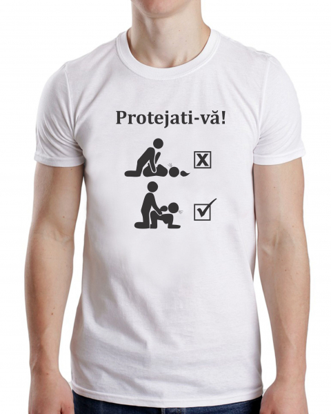 Tricou Personalizat #stamacasa - Protejati-va! 1