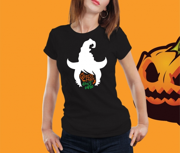 Tricou Personalizat Halloween - Witch Hair Don't Care 1