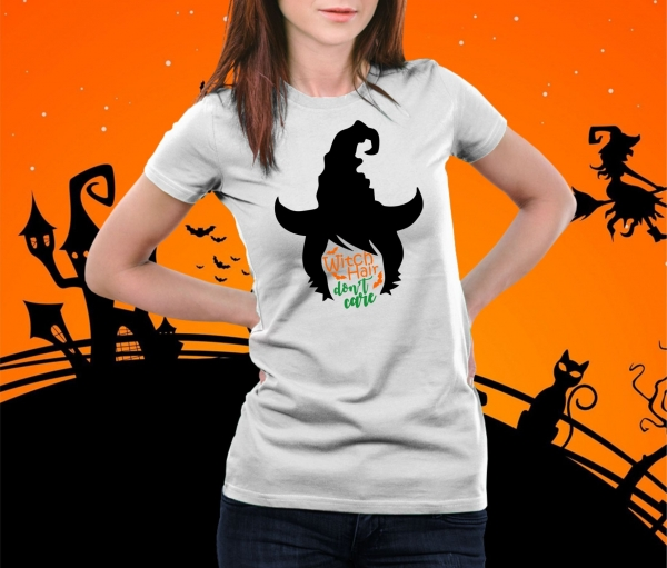 Tricou Personalizat Halloween - Witch Hair Don't Care 0