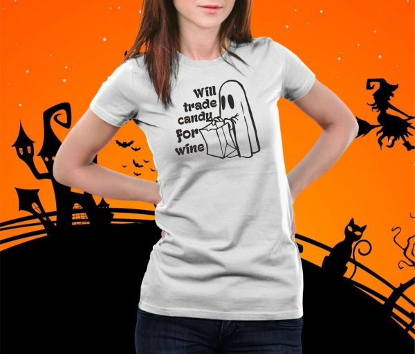 Tricou Personalizat Halloween - Candy For Wine 1