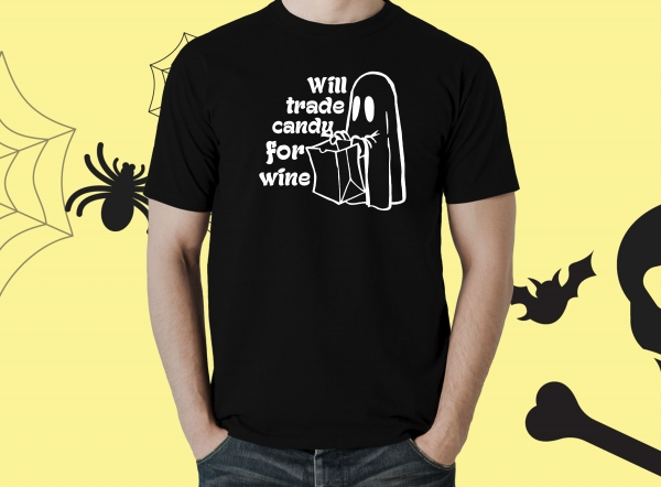 Tricou Personalizat Halloween - Candy For Wine 0