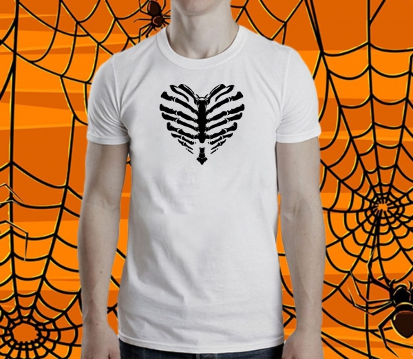 Tricou Personalizat Halloween - Bone Heart [1]