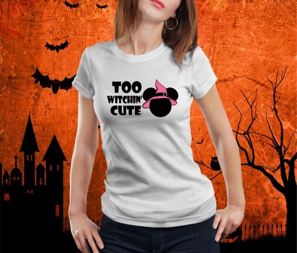 Tricou Personalizat Halloween - Witchin Cute 0