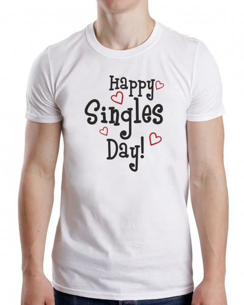 Tricou Personalizat Valentine's day - Happy Singles Day 1