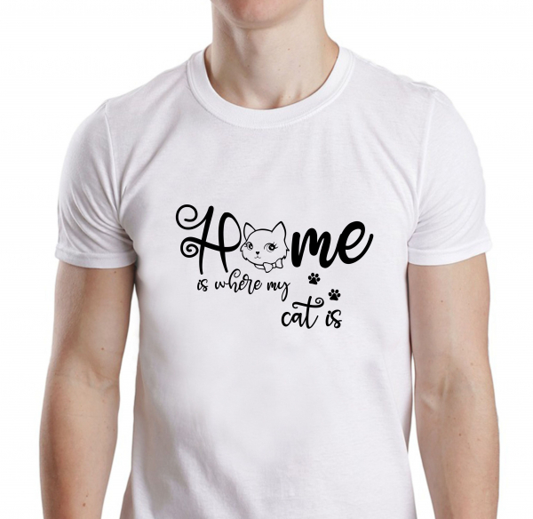 Tricou Personalizat - Home Is Where My Cat Is 0