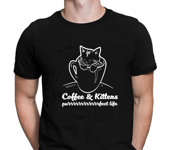 Tricou Personalizat - Coffe And Kittens Purrfect 1