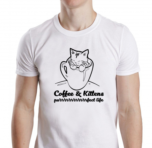 Tricou Personalizat - Coffe And Kittens Purrfect 0