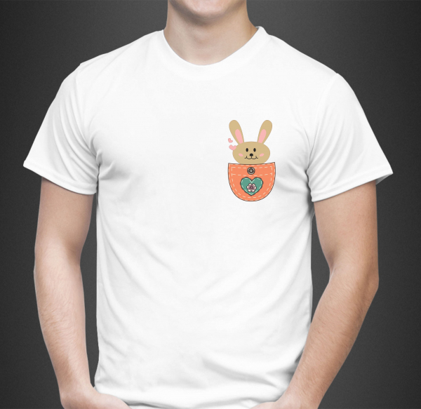 Tricou Personalizat - Iepuras in Buzunar 1