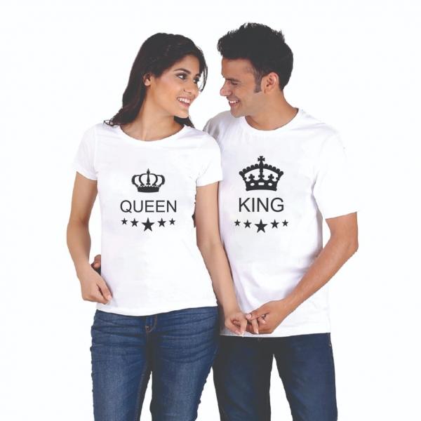 Tricouri Cuplu Personalizate - King and Queen [0]