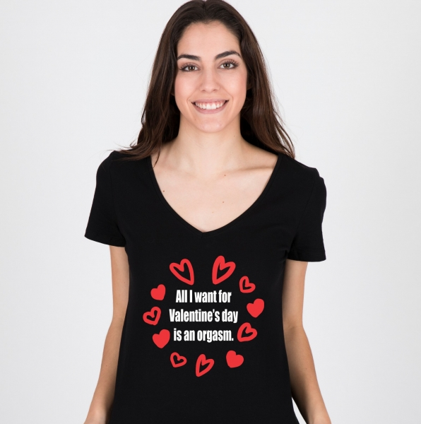 Tricou Personalizat - All I want for Valentine's Day 0