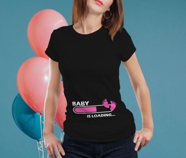 Tricou Personalizat Mamica - Baby Is Loading Fetita [0]