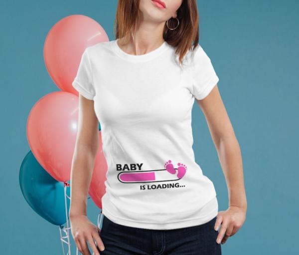 Tricou Personalizat Mamica - Baby Is Loading Fetita [1]