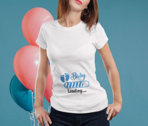 Tricou Personalizat Mamica - Baby Loading Baietel 1 0