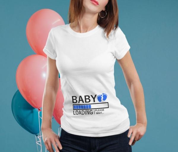 Tricou Personalizat Mamica - Baby Loading Baietel 3 0