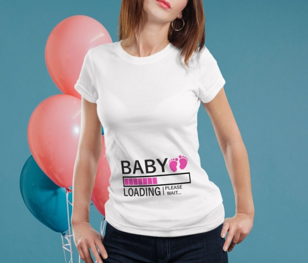 Tricou Personalizat Mamica - Baby Loading Fetita 3 [0]