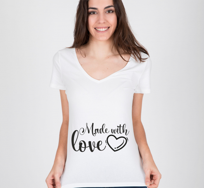 Tricou Personalizat Mamica - Made With Love [1]