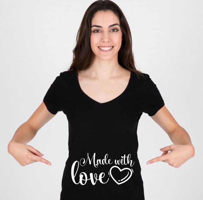 Tricou Personalizat Mamica - Made With Love [0]