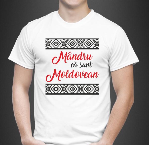 Tricou Personalizat - Mandru Ca Sunt Moldovean 0