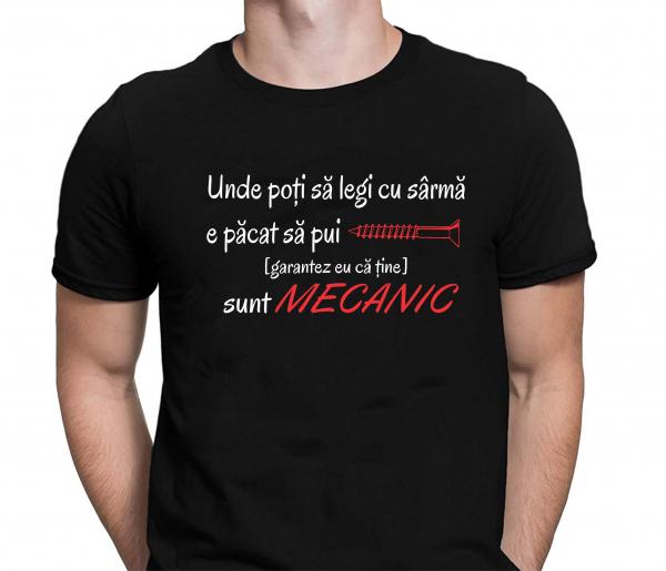 Tricou Personalizat Mecanic - Unde Poti Sa Legi Cu Sarma 1
