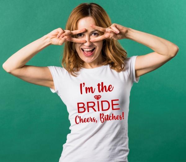 Tricou Petrecerea Burlacitelor - I'm the bride [1]