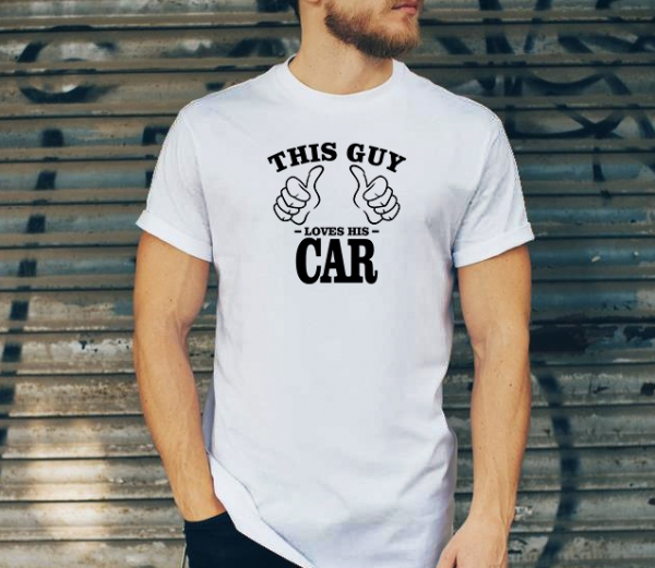 Tricou Personalizat - This guy loves his car 1