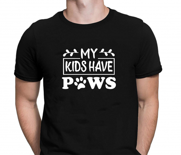 Tricou Personalizat Pisici - My Kids Have Paws 1