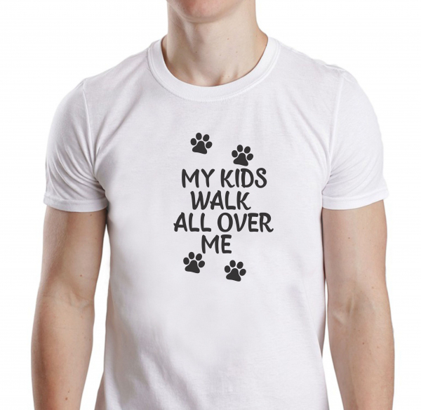 Tricou Personalizat Pisici - My Kids Walk All Over Me 1