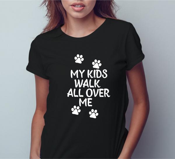 Tricou Personalizat Pisici - My Kids Walk All Over Me 0