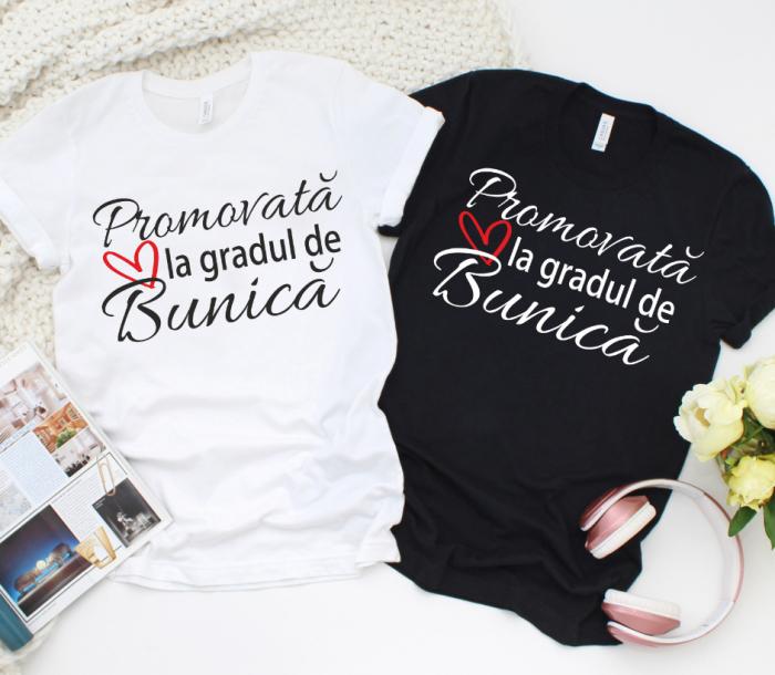 Tricou personalizat - Promovata la gradul de bunica [0]