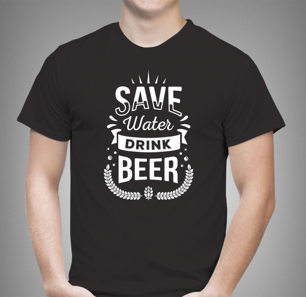 Tricou Personalizat - Save Water Drink Beer 0