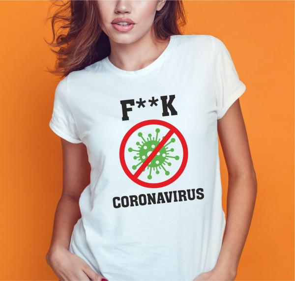 Tricou Personalizat #stamacasa - F**k Coronavirus 0