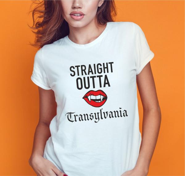 Tricou Personalizat - Straight Outta Transylvania 0