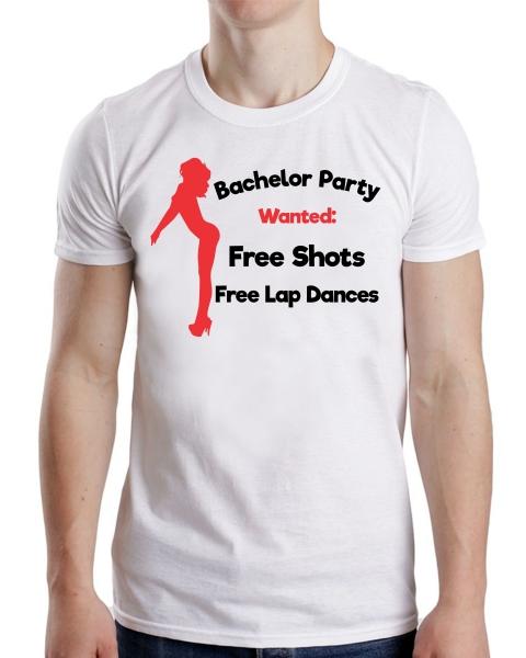 Tricou Petrecerea Burlacilor - Bachelor Party Wanted 0