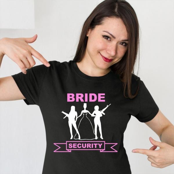 Tricou Petrecerea Burlacitelor - Bride Security [0]