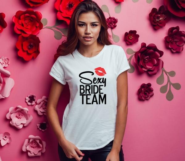 Tricou Petrecerea Burlacitelor - Sexy Bride Team 1